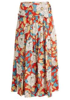 Diane Von Furstenberg Boswell floral-print silk wrap skirt