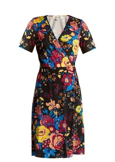 Diane Von Furstenberg Bournier floral-print silk wrap dress
