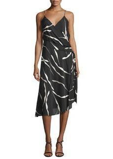 Diane von Furstenberg Brenndah Printed Surplice-Front Dress