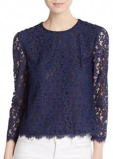Diane von Furstenberg Brielle Floral Lace Blouse