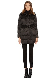 Diane Von Furstenberg Brooklyn Lightweight Down Tie Waist Jacket