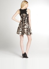 Diane Von Furstenberg brown wool-silk blend animal print 'Raelin' flared dress