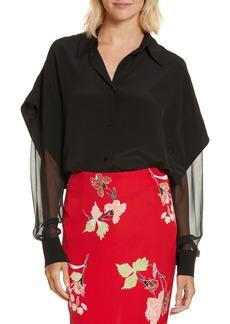 Diane von Furstenberg Button-Down Silk Shirt