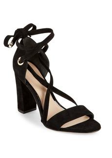 Diane von Furstenberg Calabar Wrap Strap Suede Sandals