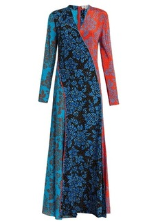 Diane Von Furstenberg Callow-print panelled bias-cut silk dress
