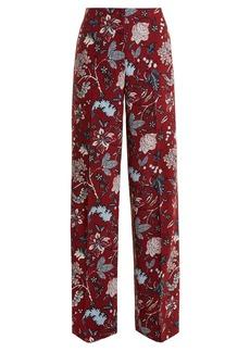 Diane Von Furstenberg Canton floral-print wide-leg trousers
