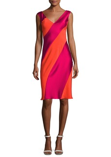 Diane von Furstenberg Cap-Sleeve Bias-Paneled Dress