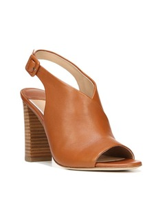 Diane von Furstenberg Carini Leather Block Heel Slingback Sandals