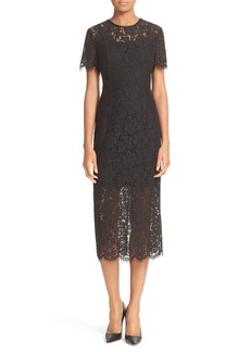 Diane von Furstenberg Carly Lace Midi Sheath Dress