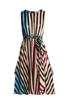 Diane Von Furstenberg Carrington Stripe silk-blend dress