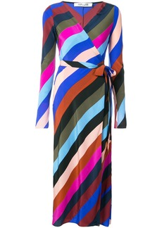 Diane Von Furstenberg Carson stripe wrap dress - Multicolour
