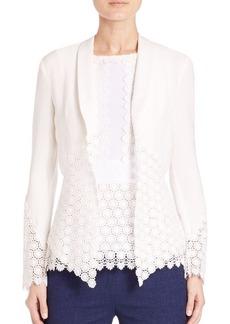 Diane von Furstenberg Castilla Medallion Lace-Paneled Jacket