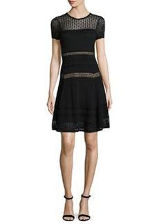Diane von Furstenberg Celina Pointelle Party Dress