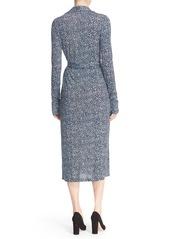 Diane von Furstenberg 'Celina' Print Jersey Wrap Midi Dress