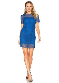 Diane von Furstenberg Chain Lace Dress in Blue. - size 0 (also in 2,4,6)
