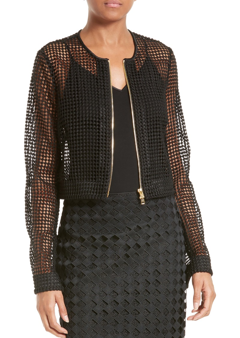 Diane von Furstenberg Chain Lace Jacket