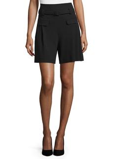 Diane von Furstenberg Chapman Belted High-Waist Shorts