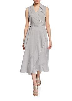 Diane von Furstenberg Charleigh Sleeveless Striped Wrap Dress
