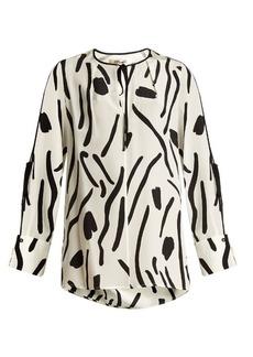 Diane Von Furstenberg Chatham-print silk crepe de Chine blouse