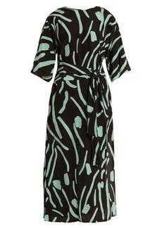 Diane Von Furstenberg Chatham-print wrap-style silk dress