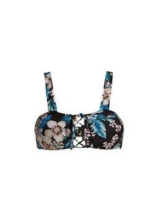 Diane Von Furstenberg Cheeky lace-up bikini top