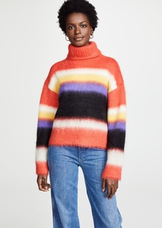 Diane von Furstenberg Chunky Striped Turtleneck