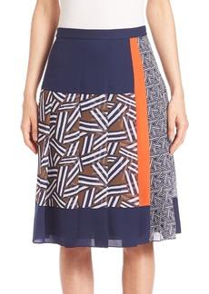 Diane von Furstenberg Cici Silk Pleated Skirt