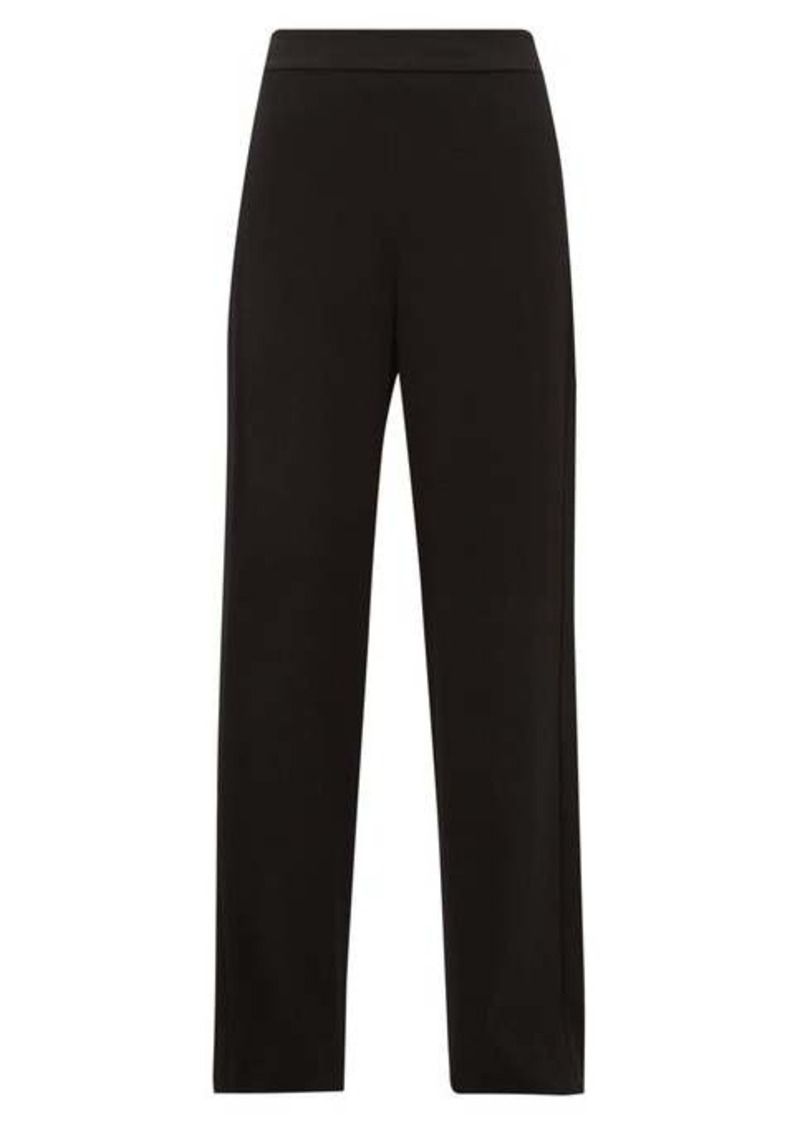 Diane Von Furstenberg Clara high-rise satin-striped wide-leg trousers