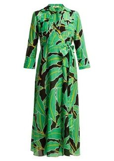 Diane Von Furstenberg Clarem cotton-blend voile wrap dress