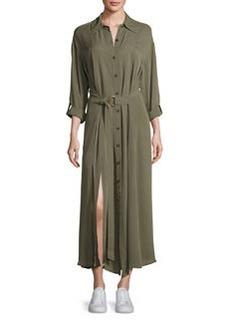 Diane von Furstenberg Clarise Belted Silk Jersey Shirtdress
