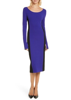 Diane von Furstenberg Colorblock Knit Body-Con Dress