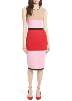 Diane von Furstenberg Colorblock Knit Dress