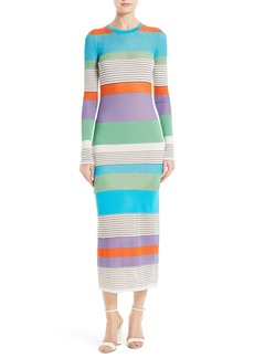 Diane von Furstenberg Colorblock Knit Midi Dress