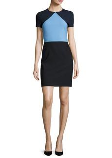 Diane von Furstenberg Colorblock Short-Sleeve Sheath Dress