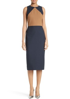 Diane von Furstenberg Colorblock Midi Sheath Dress