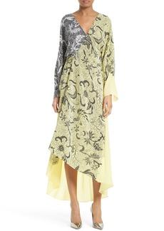 Diane von Furstenberg Colorblock Wrap Dress