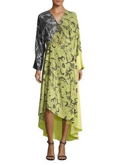 Diane von Furstenberg Combo Woven Silk Wrap Dress