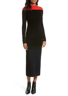 Diane von Furstenberg Contrast Yoke Midi Dress