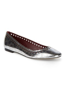 Diane Von Furstenberg Corolla Metallic Leather Flats