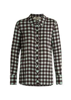 Diane Von Furstenberg Cossier-print stretch-silk shirt