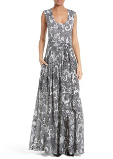Diane von Furstenberg Cotton & Silk Maxi Dress