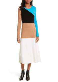 Diane von Furstenberg Crewneck Flare Knit Dress