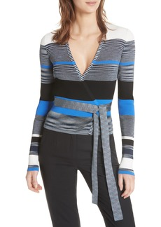 Diane von Furstenberg Crop Wrap Sweater