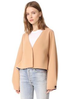 Diane von Furstenberg Cropped Button Up Jacket