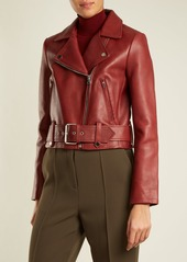 Diane Von Furstenberg Cropped leather biker jacket