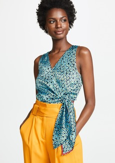 Diane von Furstenberg Cropped Wrap Top