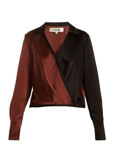 Diane Von Furstenberg Crossover-front satin blouse