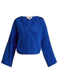 Diane Von Furstenberg Crossover-front silk crepe de Chine blouse