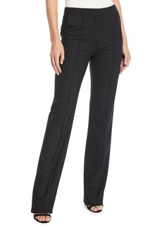 Diane von Furstenberg Cruz Pleated Crepe Straight-Leg Pants