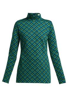 Diane Von Furstenberg Cube jacquard top